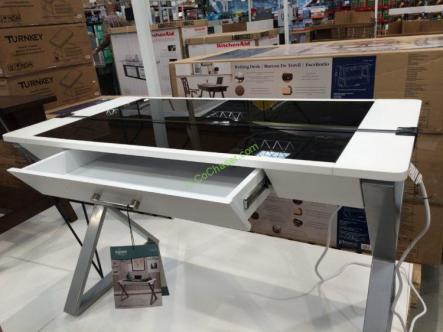 Bayside Furnishings White Wood Desk Costcochaser