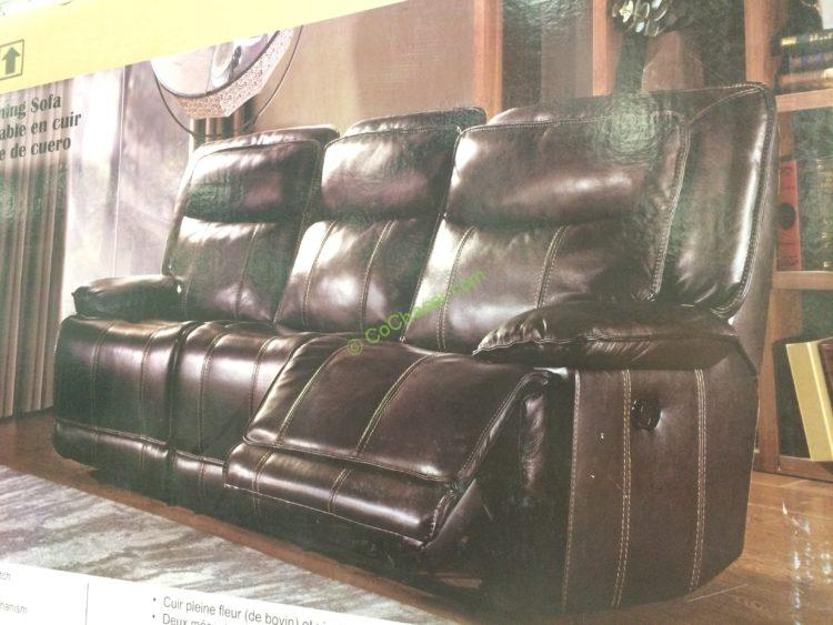 Costco 1049285 1049286 Leather Reclining Sofa Loveseat Pic