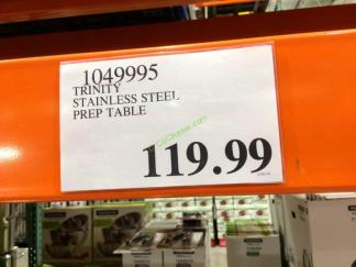Costco-1049995-TRINITY-Stainless-Steel-Prep-Table-tag