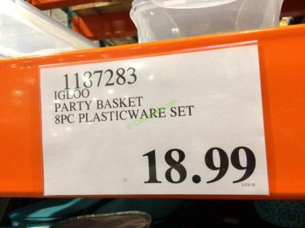 Costco-1187283- IGLOO-Party-Basket-8PC-Plasticware-Set-tag