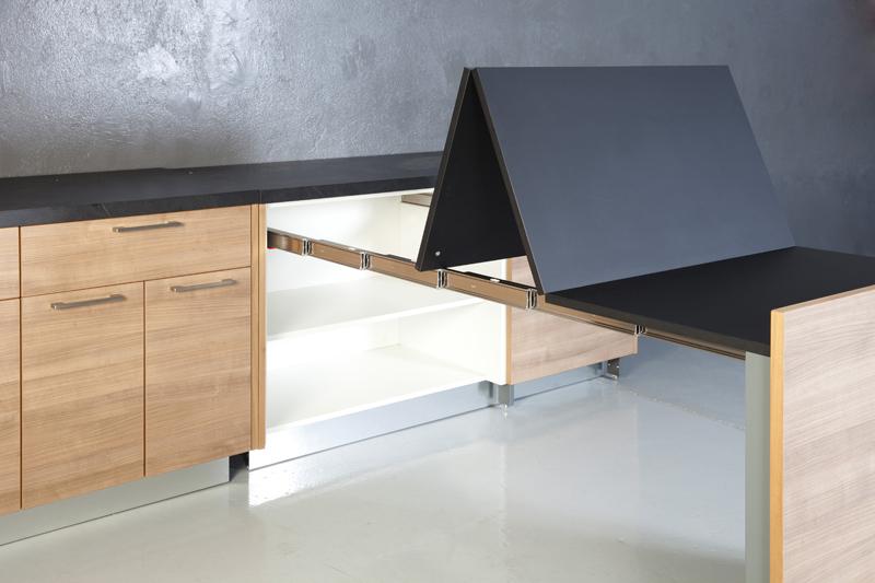 Mesa extraible mueble cocina simple o mueble auxiliar cocina microondas con ruedas y bandeja - Mesa extraible cocina ...