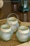 Decoración con envases de vidrio reusados