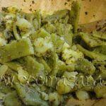 Pasta con Pesto, Judías Verdes y Patatas