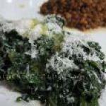 Espinacas salteadas con Parmigiano rallado