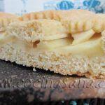 Pasta flora suave rellena de manzanas
