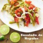 Ensalada de Nopales ... fresca, sana y deliciosa
