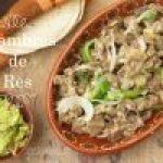Alambre de Res (Ternera), receta mexicana