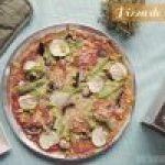 Pizza Sin Gluten de Coliflor con Verduras