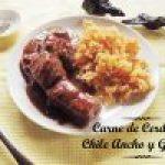 Carne de Cerdo en Salsa de Chile Ancho y Guajillo