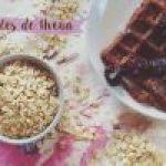 Waffles de Avena, Cocoa y Plátano, para un Desayuno Ligero