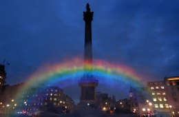 Big Gay Rainbow Over London Marks New Show 'Cucumber'