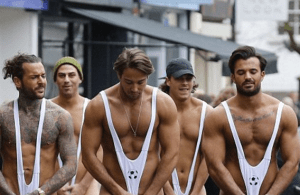 MAN CANDY: TOWIE Boys Strip Down, Strut Through Essex In Mankinis