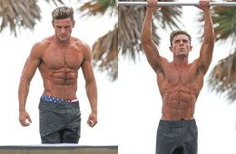 MAN CANDY: Zac Efron Sweating, Swinging & Shirtless on Set