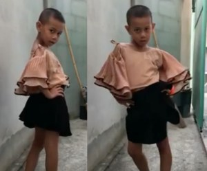VIRAL: This Little Boy Is Serving Slow-Motion Back Alley Runway Eleganza [Video]
