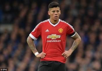 MAN CANDY: Manchester United Footballer Marcos Rojo gets his Kit Off in Leaked Snaps