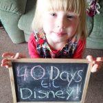 40 days until Walt Disney World!  She looks exhaustedhellip