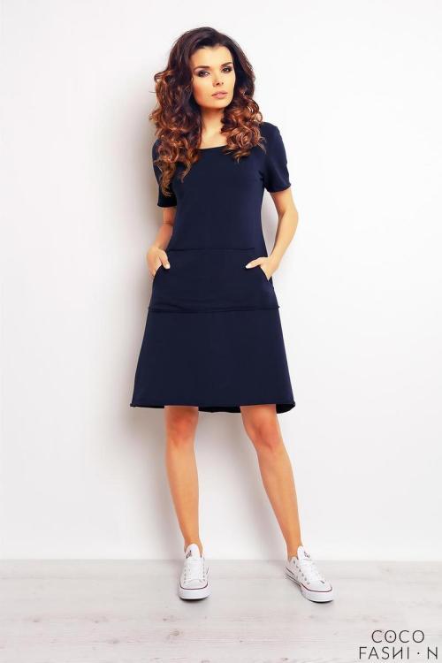 Comfy Pockets Blue Dress Girl Flowers Blue Dress Blue Sport Style Dress
