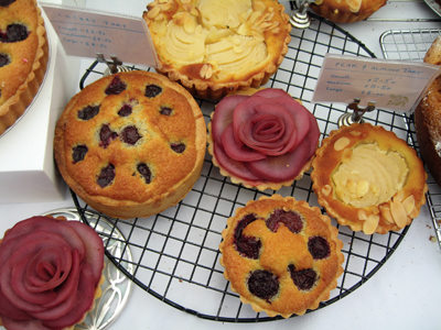 www.cocoandme.com - cherry clafoutis, wine poached pear & chocolate tart & pear tart - Coco&Me