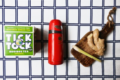 Coco&Me - Recipe for ginger & lemongrass tea self-brewing in thermos flask - www.cocoandme.com