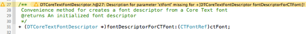 Missing parameter description