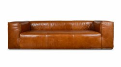 Small Of Brown Leather Sofa