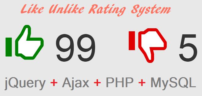 like-unlike-rating-system-using-jquery-ajax-php-mysql