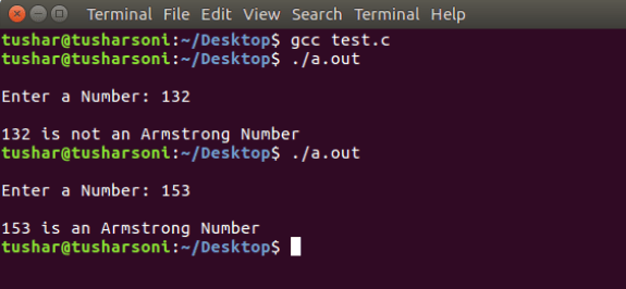 C Program To Find Armstrong Number using While and For Loops