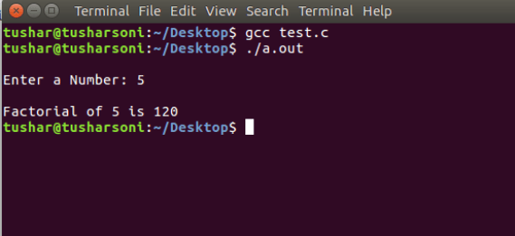 C Program To Find Factorial of Number using While Loop, For Loop and Recursion