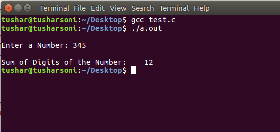 C Program To Find Sum of Digits of Number