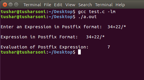 C Program To Evaluate Postfix Expression using Stack Data Structure