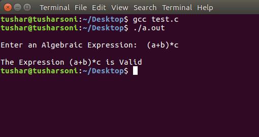 Develop Recursive Descent Parsing C Program with Algorithm