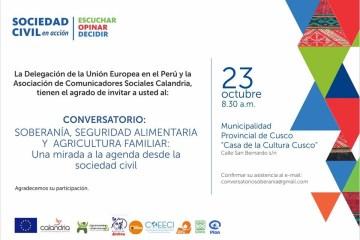 Conversatorio Soberania, Seguridad Alimentaria y Agricultura Familiar- Octubre 2015