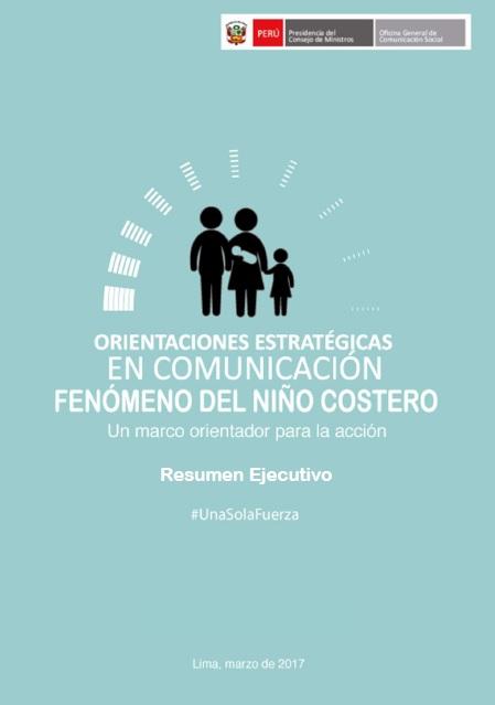Orientaciones Estrategicas Comunicacion FEN Niño Costero 2017