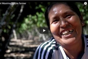 Maxima Ventura Roque is a cocoa farmer in Peru
