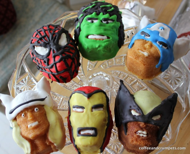 IMG 2379 1024x832 Marvel Superhero Cakelets and a Birthday