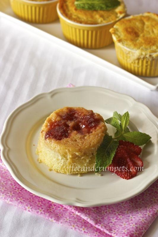 strawberry rhubarb puddingpudding