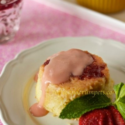 Strawberry Rhubarb Pudding