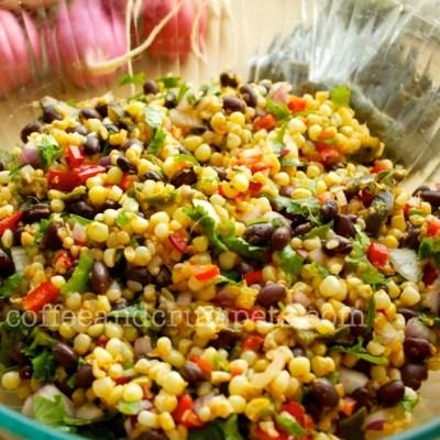 Roasted Green Chilli, Corn and Black Bean Salsa