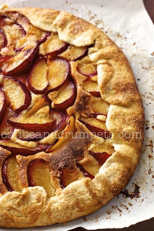 plum cardamom crostata