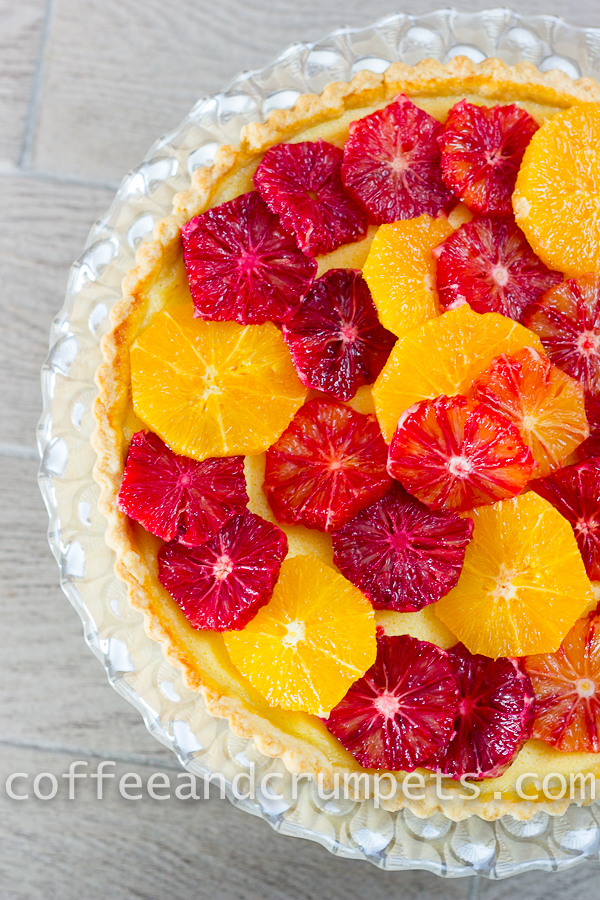 Blood Orange and Ricotta Tart-7