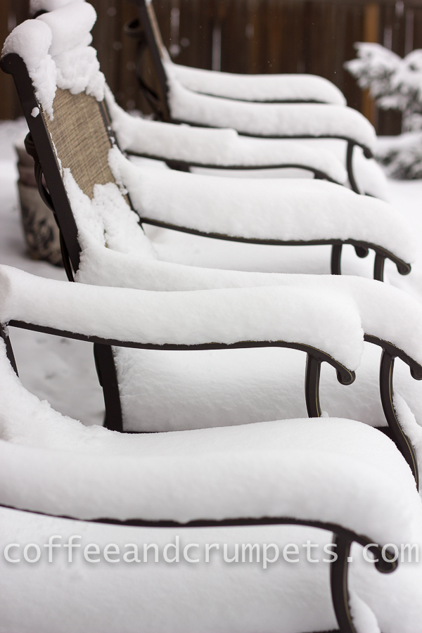chairs in the snow
