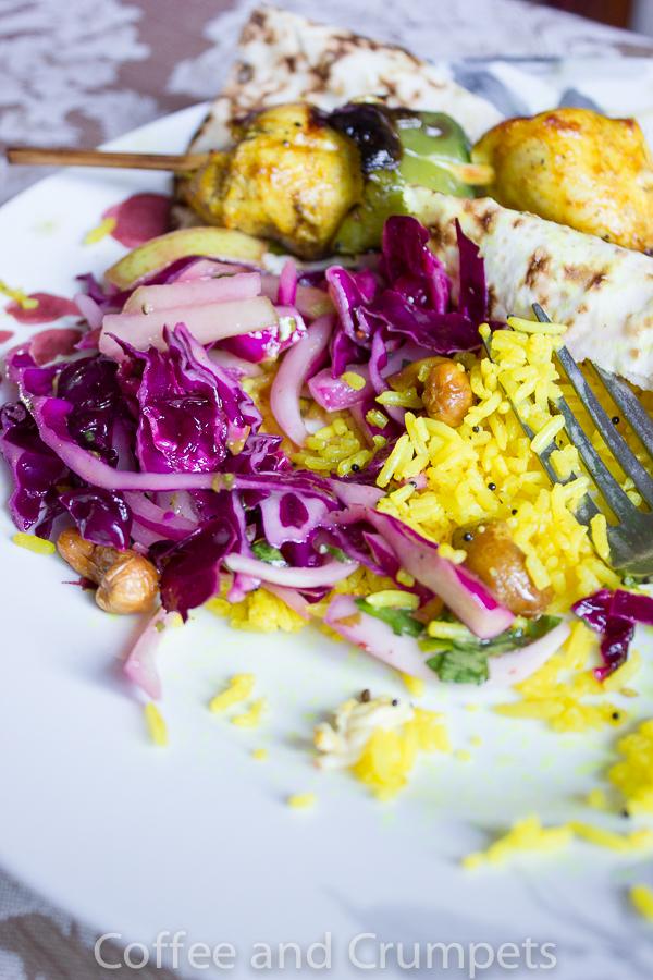 Lemon Rice and Chicken Kebab-1