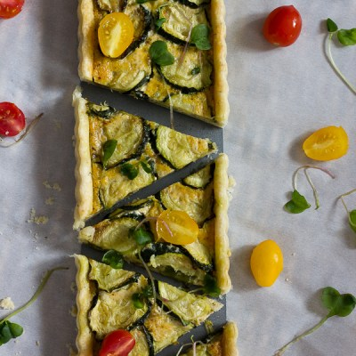 Hatch Chile and Zucchini Tart