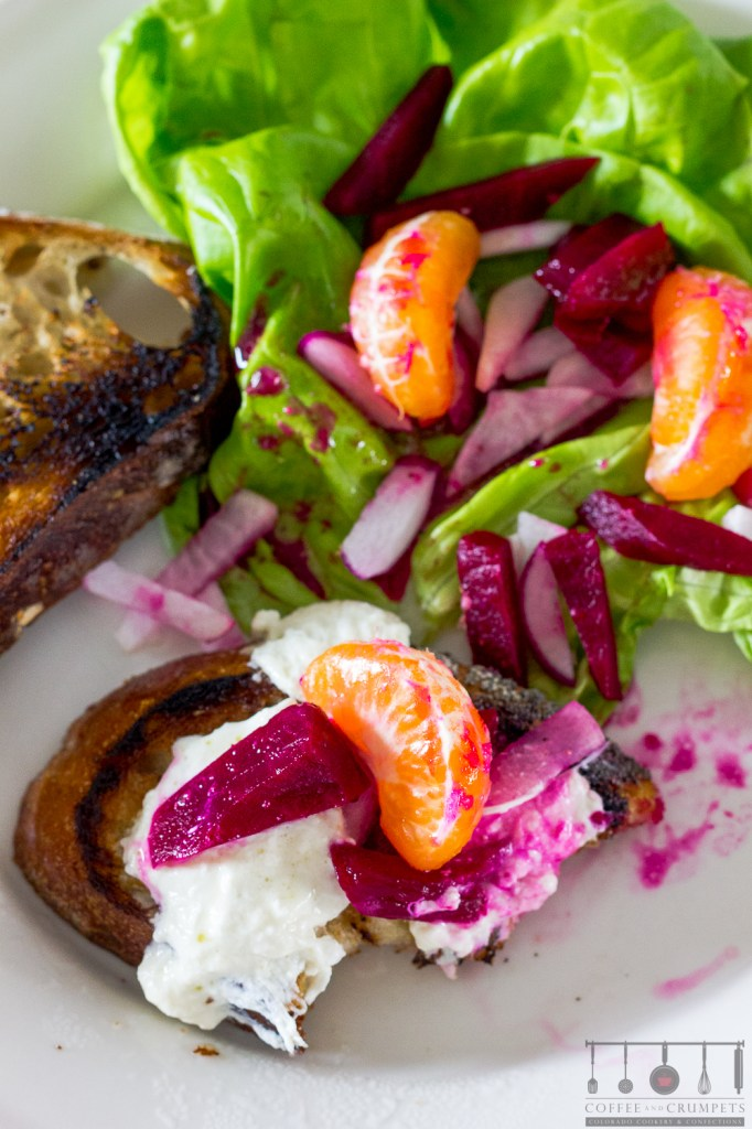 Beet Slaw with roasted burrata