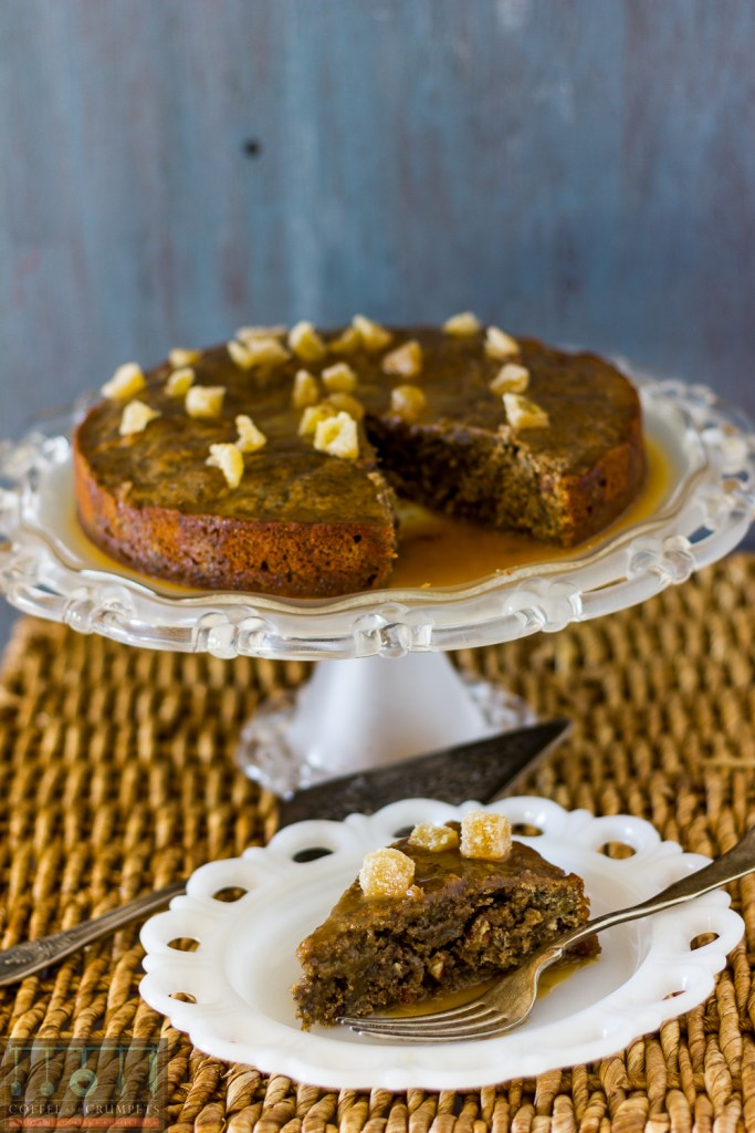 Roasted banana cake