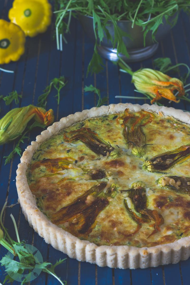 Squash Blossom Tart