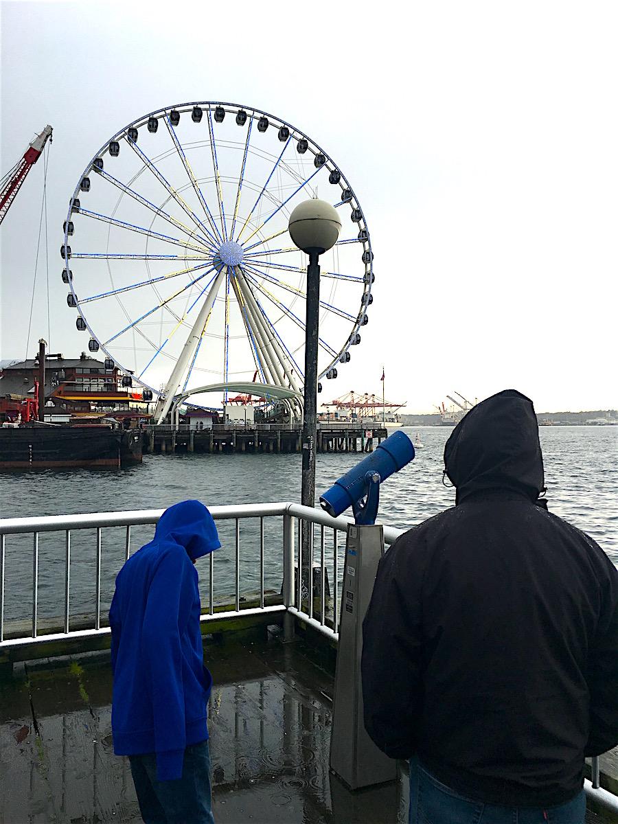 Ferris wheel at the Seattle port