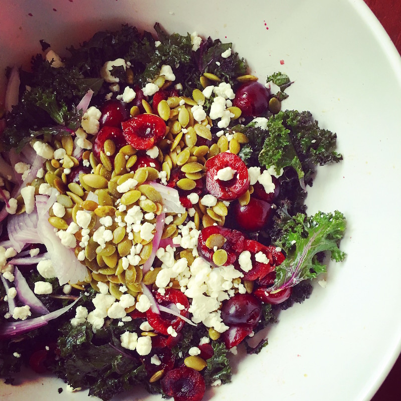 Kale and Cherry Salad