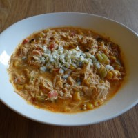 Crockpot Buffalo Chicken Soup