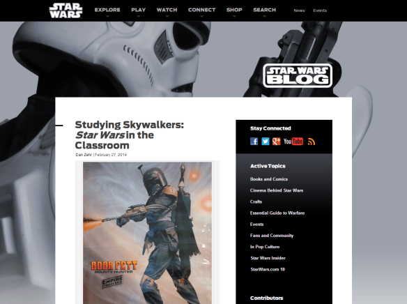 My Star Wars.com Blog on Teaching Stormtrooper